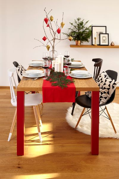 Table Classyc oak, red