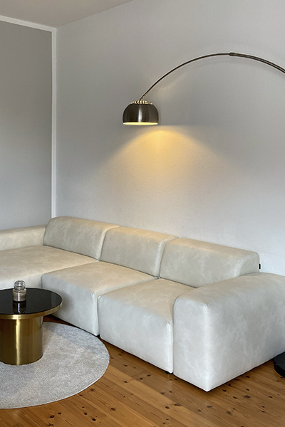 velvet corner sofa PYLLOW by MYCS