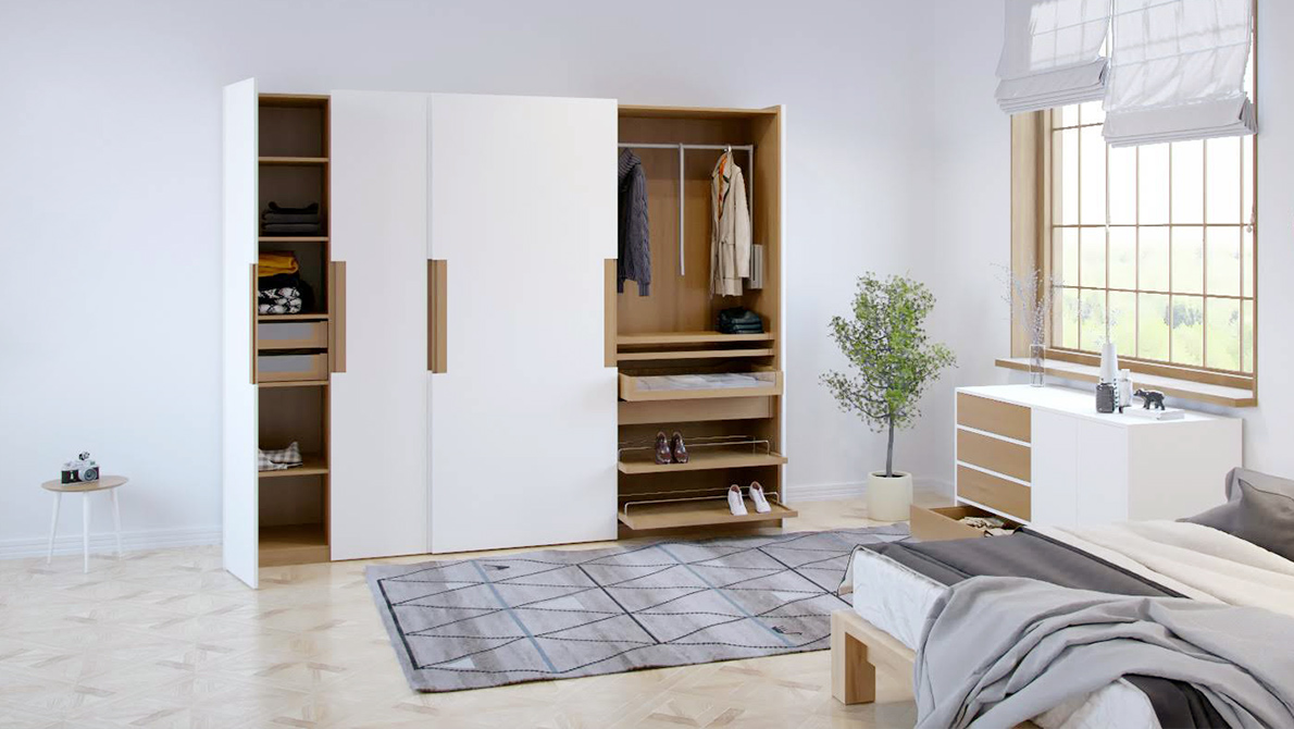 modular wardrobes with many possibilities
