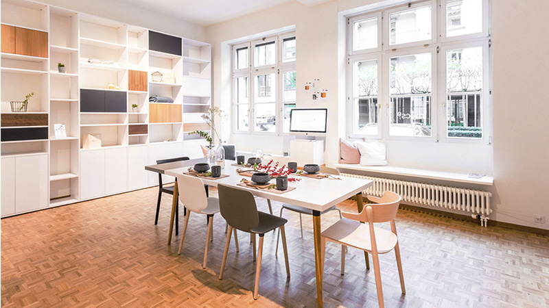 MYCS showroom Zurich dining table